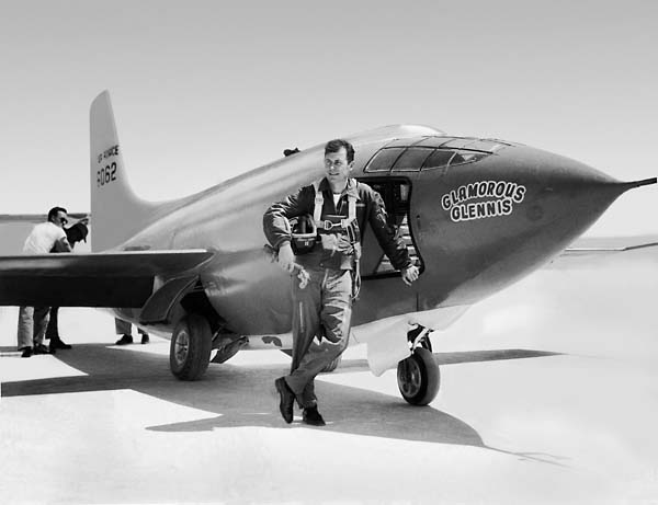 Image result for chuck yeager breaks the sound barrier