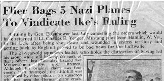 Flier Bags 5 Nazi planes to vindicate Ike's ruling
